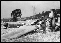Crashed Dornier Do17 at Leaves Green near Biggin Hill on Aug 18th